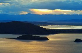 Sunset on Lake Titicaca - Peru
